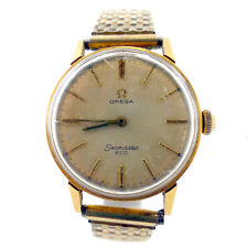 OMEGA SEAMASTER 600 GOLD DIAL 14K GOLD FILLED STRETCHBAND WATCH FOR PARTS/REPAIR