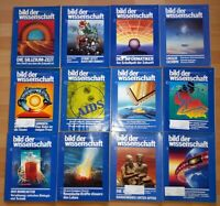 12x Bild der Wissenschaft 1985 1-12 Jahrgang Sammlung Zeitschrift Science Hefte