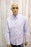 GANT Taglia L Camicia Uomo Cotone Shirt Multicolore Chemise Casual Manica Lunga
