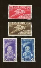 Set of 4 1935 Italy Fascist Flight & Leonardo da Vinci Postage Stamps #345-348