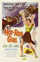 66718 Hot Rod Girl Movie Lori Nelson huck Connors Wall Print POSTER CA