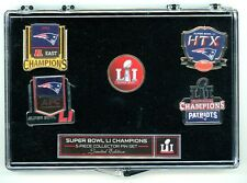 Patriots Super Bowl LI Champions 5 Pin Set 51 Five Pins Champs New England Win