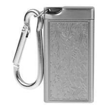 Mini Portátil bolsillo de cigarrillos de metal plateado cigarro de Fumar Cenicero titular caso
