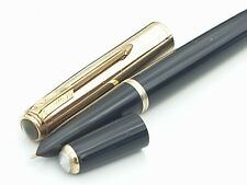 Parker 51 VACUMATIC 1946 DOUBLE JEWEL INDIA BLACK 16K WINDOW PANE CAP RESTORED