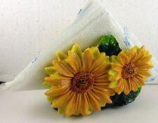 Sunflowers napkin  holder  decor bar home set kitchen Poly Resin Nice Gift