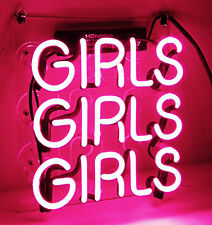 GIRLS GIRLS GIRLS Home Lamp Decor Neon Light Sign Beer Bar Club Party Door Bed
