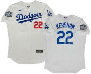 CLAYTON KERSHAW Autographed Dodgers Authentic Nike World Series Jersey FANATICS