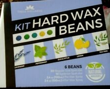TRESS WELLNESS Kit HARD WAX BEANS-6 Packs 3.5OZ BEANS-SPRAYS-SPATULAS New