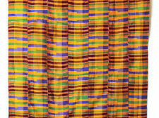 Authentic African Kente Cloth made in Ghana, 36 X 60 inch Multicolor