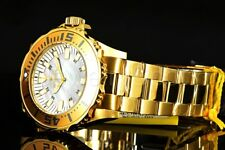17695 Invicta Pro Diver 44MM Swiss Platinum Mother-of-Pearl Dial Gold Tone Watch