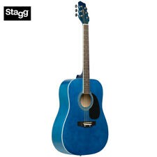 NEW Stagg SA20D Full Size Student Dreadnought Acoustic Guitar - Blue