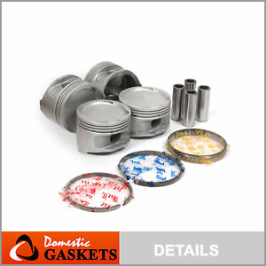 Pistons and Rings fit 93-97 Toyota Corolla Celica Geo Prizm 1.8 DOHC 7AFE