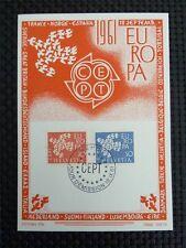 SCHWEIZ MK 1961 EUROPA CEPT TAUBE PIGEON MAXIMUMKARTE MAXIMUM CARD MC CM c4055
