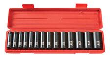 TEKTON 1/2 Dr. Deep Impact Socket Set (11-32mm) 12 pt. Cr-V 4884 Tool Set NEW