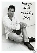 Personalised A5 Donny Osmond Birthday Card Any Age Relation 50th Mum Friend Wife