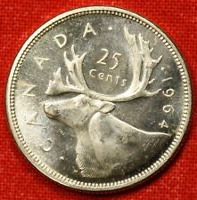 1964 CANADIAN QUARTER BU 80% SILVER GREAT COLLECTOR COIN GIFT CAQ17