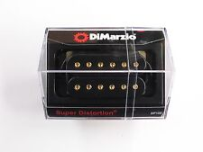 DiMarzio REGULAR-SPACED Super Distortion Bridge Black W/Gold Poles DP 100