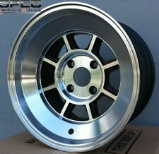15X9 ROTA SHAKOTAN RIMS 4X114.3 WHEELS 0MM POLISH BLACK (SET OF 4 )