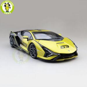 Bburago 1:18 Sian FKP 37 Lamborghini 11046 Diecast Model Toys Car Yellow Fade