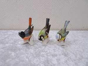 3X Goebel Porcelana Diseño Figura Pájaro - Konvolut Colección