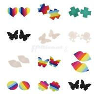 Assorted Sexy Women's Pasties Adhesive Breast Petal Nipple Cover Rainbow