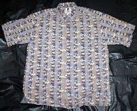 Tori Richard Honolulu Mens Short Sleeve Hawaiian Cotton Lawn Shirt Size Large