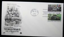 1991 FDC Commemorating World War II 29c Stamps # 2559e 2559j Cover