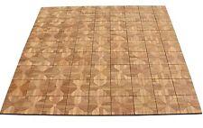 """TEAK DECK TILES 12"""" x 12"""" Outdoor Patio Interlocking DIY (Box of 12) Floor NEW"""