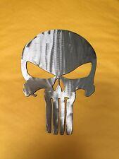 10 Inch PUNISHER SKULL Emblem Logo Black Metal Wall Art Ornament Stencil Steel