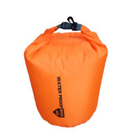 WATERPROOF DRY BAG STORAGE POUCH CANOE KAYAK CAMPING CYCLING Orange Red 20L