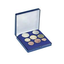 Écrin bleu pour une série complète de pièces Euro.