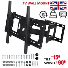 "TV Wall Bracket Mount Tilt & Swivel for 32 40 42 46 50 55 60 70"" Double Arms UK"