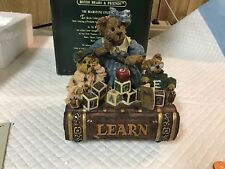 Boyds Bearstones - Ms. Bruin & Bailey.The Lesson.Music Box In Org Box 270554