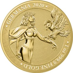"Germania 2020 100 Mark ""Lady Germania"" 1 Oz Gold Coin"