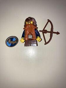 LEGO Castle Fantasy Era Dwarf Minifigure Red Beard Copper Helmet