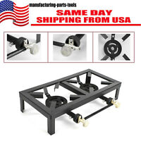 Portable Burner Cast Iron Propane LPG Gas Stove Outdoor Camping Cooker
