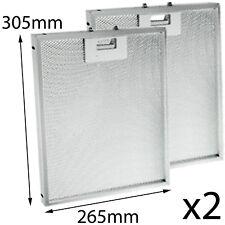 CREDA CRC60 CRC65 CRC90 Oven Cooker Hood Vent Extractor Aluminium Filter x 2