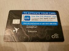 NEW Citi Executive BLACK American Airlines MasterCard Credit Card THICK metallic