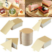 50/100x Disposable Mousse Cake Tray Cardboard Base Cake Pastry Baking Mould Tool