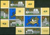 Ungarn Block Nr. 147 A + B postfrisch CEPT KSZE 1980 geschnitten + gezähnt MNH