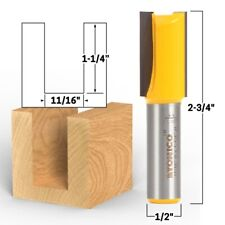 1116 Diameter X 1 14 Height Straight Router Bit 12 Shank Yonico 14013