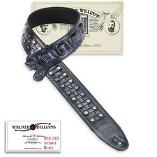 Walker & Williams DLX-215 Antique Black Padded Leatherwith Metal Studs