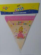 BANDIERINE BUON COMPLEANNO PRINCIPESSA FESTONE STRISCIONE ROSA FESTA PARTY