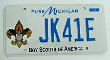 "BOY SCOUTS OF AMERICA  GRAPHIC AUTO  LICENSE PLATE "" JK 41 E  "" EAGLE SCOUTING"