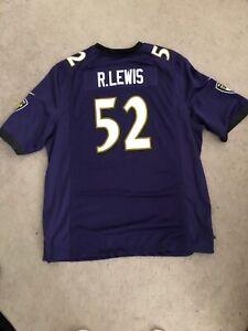 Nike NFL Baltimore Ravens Ray Lewis Purple Jersey Men 2XL New nike 468944 568