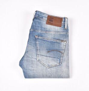 29069 G-Star 3301 Droit Bleu Hommes Jean En Taille 31/32