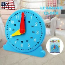 Student Learning Plastic Clock Kids how to tell time Educational Toy USA STOCK