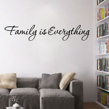 Family is Everything Art Words Wall Stickers Sticker Home Decor Wall Decal W30