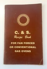C & S Recipe Book For Fan Forced Conventional Gas Ovens Craig & Seeley No. 40237