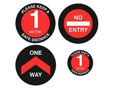 cov id 1 Metre Stickers social distancing 1 Metre 1M One Way covi d floor signs,
